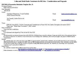 Collocated MultiRadio Coexistence for 802 16 m Considerations