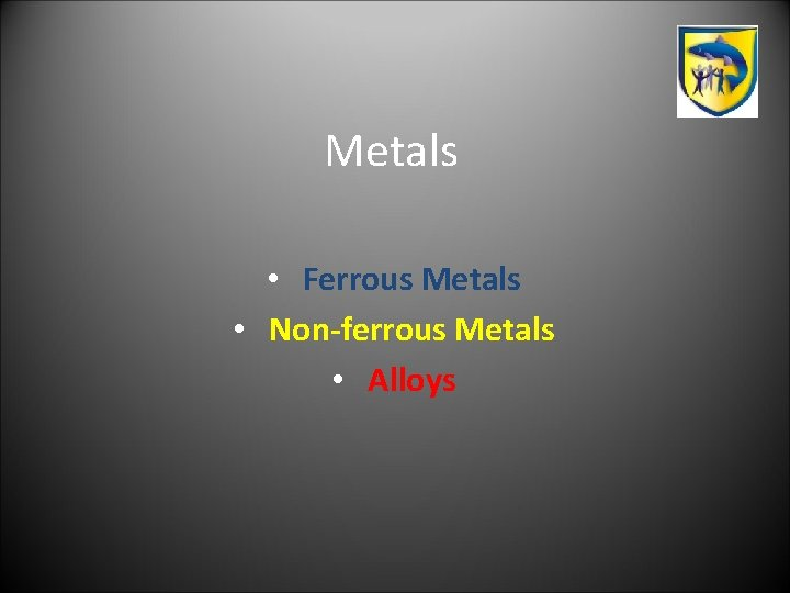 Metals Ferrous Metals Nonferrous Metals Alloys Useful Terms