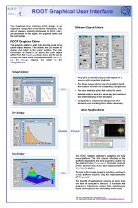 ROOT Graphical User Interface The Graphical User Interface