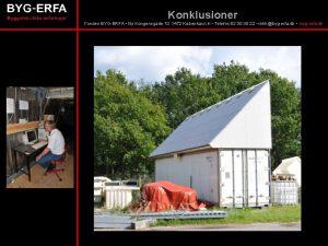 Konklusioner Fonden BYGERFA Ny Kongensgade 13 1472 Kbenhavn