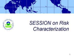 SESSION on Risk Characterization 1 Risk Characterization David