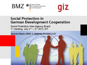 Social Protection in German Development Cooperation Social Protection