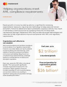 Helping organizations meet AML compliance requirements MASTERCARD AML