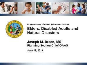 NC Department of Health and Human Services Elders