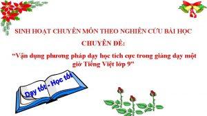 SINH HOT CHUYN MN THEO NGHIN CU BI