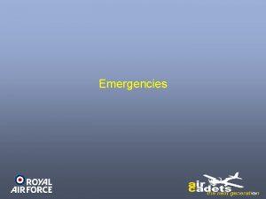 Emergencies Recap Aircraft Maintenance Ground Handling Prep for