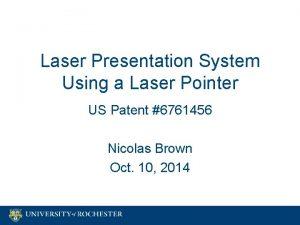 Laser Presentation System Using a Laser Pointer US