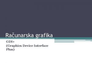 Raunarska grafika GDI Graphics Device Interface Plus Metafiles