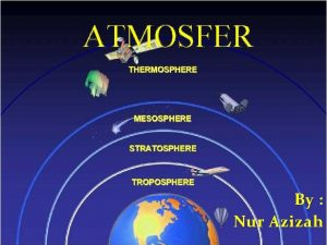 ATMOSFER By Nur Azizah Contents Pengertian Sifat Atmosfer