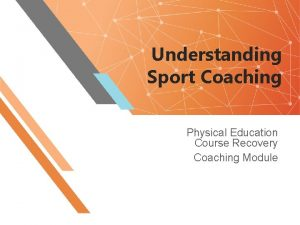 Understanding Sport Coaching Physical Education Course Recovery Coaching