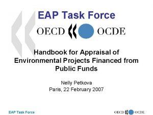EAP Task Force Handbook for Appraisal of Environmental