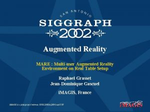 Augmented Reality MARE Multiuser Augmented Reality Environment on