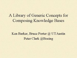 A Library of Generic Concepts for Composing Knowledge