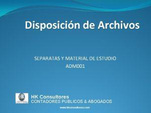 Disposicin de Archivos SEPARATAS Y MATERIAL DE ESTUDIO