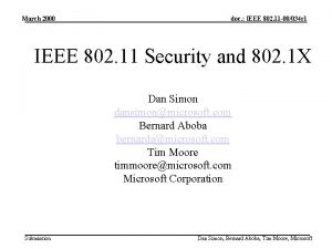 March 2000 doc IEEE 802 11 00034 r