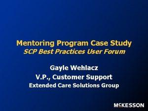 Mentoring Program Case Study SCP Best Practices User