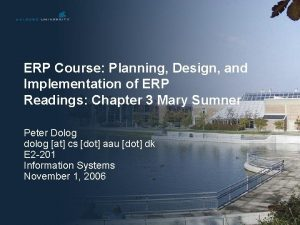 ERP Course Planning Design and Implementation of ERP