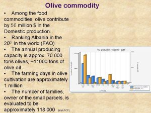 Olive commodity Among the food commodities olive contribute