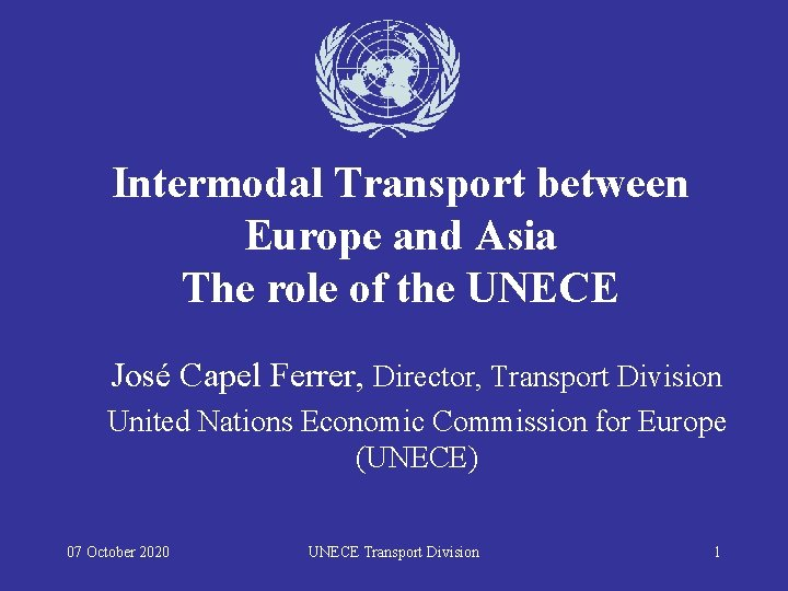 Intermodal Transport between Europe and Asia The role