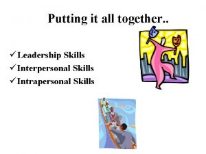 Putting it all together Leadership Skills Interpersonal Skills
