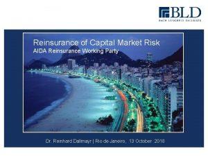 Reinsurance of Capital Market Risk AIDA Reinsurance Working