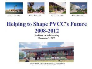 PVCC Fall 1987 PVCC Fall 1999 PVCC Fall