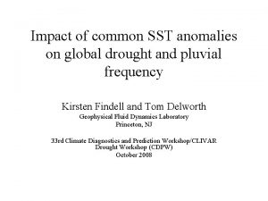 Impact of common SST anomalies on global drought