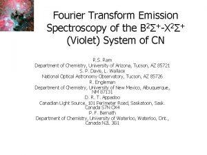 Fourier Transform Emission Spectroscopy of the B 2X