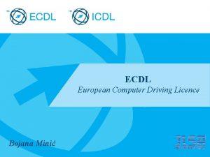 ECDL European Computer Driving Licence Bojana Mini Placeholder