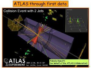 ATLAS through first data Fabiola Gianotti on behalf
