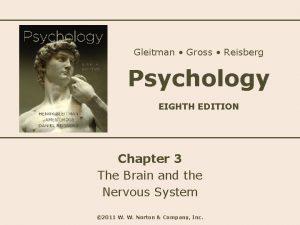 Gleitman Gross Reisberg Psychology EIGHTH EDITION Chapter 3
