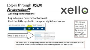 Login through YOUR Powerschool Must be your account