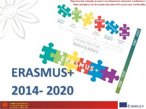 ERASMUS 2014 2020 Erasmus Erasmus is a EU