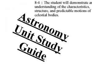 8 4 The student will demonstrate an understanding