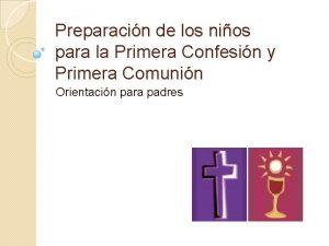 Preparacin de los nios para la Primera Confesin