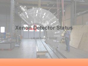 Xenon Detector Status Liquid Xenon Group Outline Cryostat