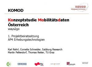KOMOD Konzeptstudie Mobilittsdaten sterreich ways 2 go 1
