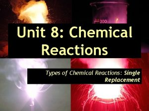 Unit 8 Chemical Reactions Types of Chemical Reactions