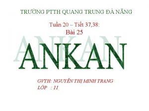 TRNG PTTH QUANG TRUNG NNG Tun 20 Tit