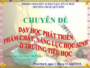 PHNG GIO DC O TO TP C MAU