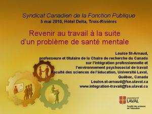 Syndicat Canadien de la Fonction Publique 5 mai