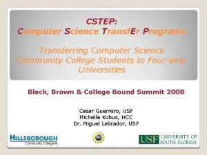 CSTEP Computer Science Transf Er Programs Transferring Computer
