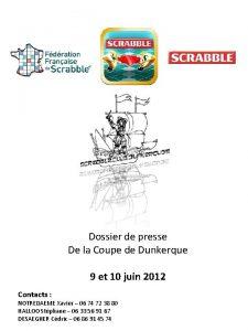 Dossier de presse De la Coupe de Dunkerque