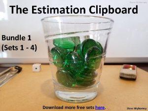 The Estimation Clipboard Bundle 1 Sets 1 4