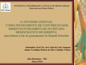 PONTIFCIA UNIVERSIDADE CATLICA DE MINAS GERAIS Doutorado em