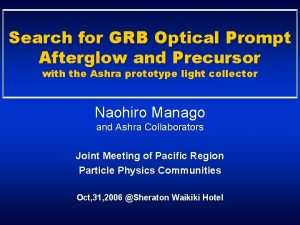 Search for GRB Optical Prompt Afterglow and Precursor