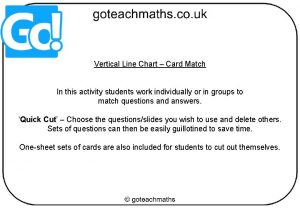Vertical Line Chart Card Match In this activity