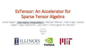 Ex Tensor An Accelerator for Sparse Tensor Algebra
