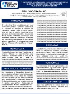 1 ENCONTROS ACADMICOS DA FACULDADE LUCIANO FEIJO I