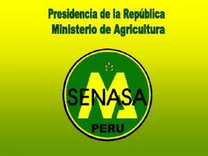 SERVICIO NACIONAL DE SANIDAD AGRARIA EXPOSICION AL CONGRESO
